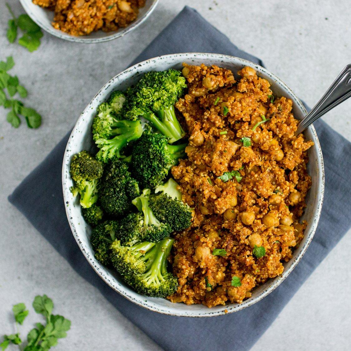 Quinoa mit Kichererbsen