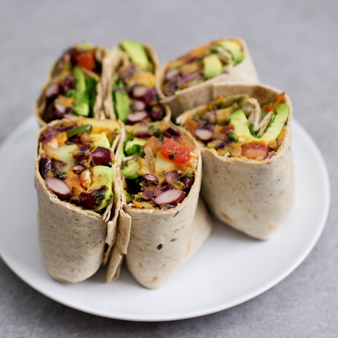 Kartoffel Bohnen Burritos