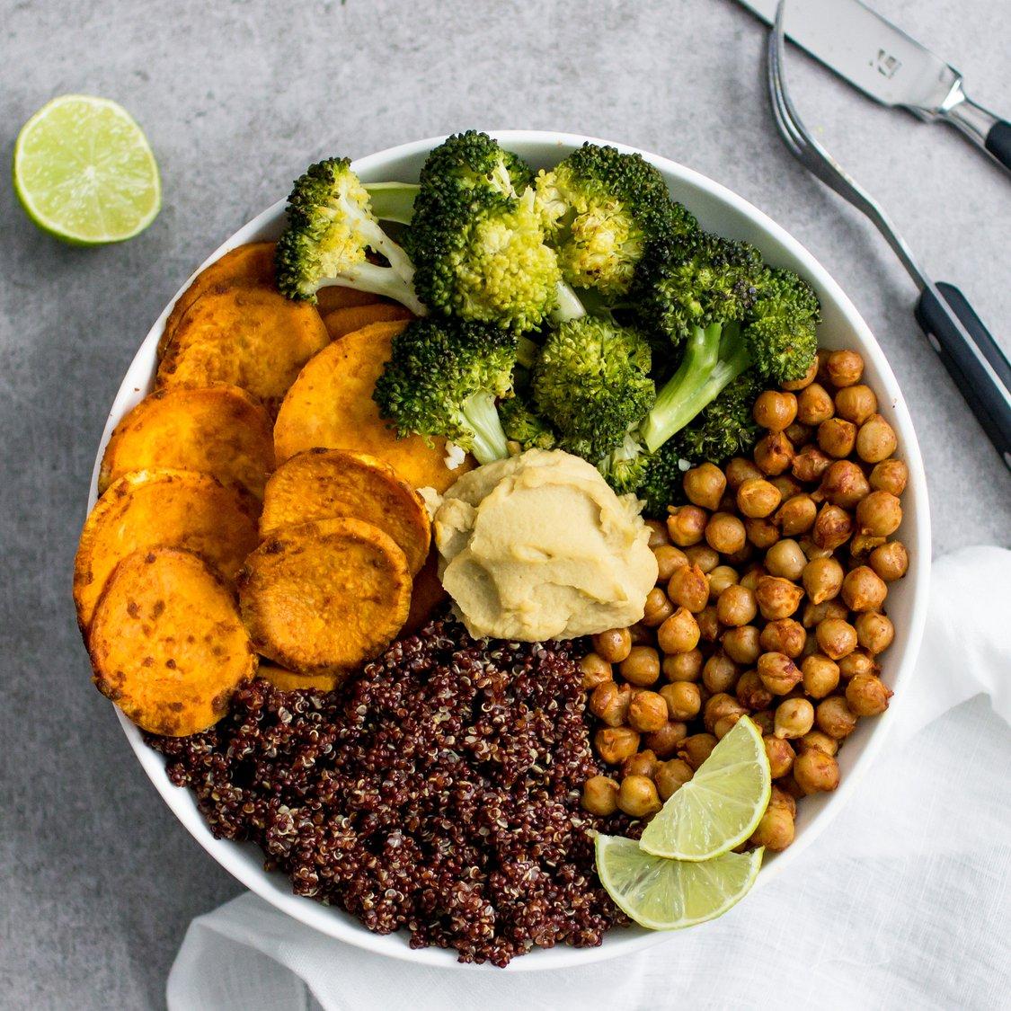 Quinoa Süßkartoffel Bowl