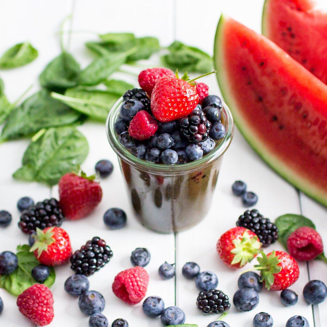 Wassermelonen Beeren Smoothie
