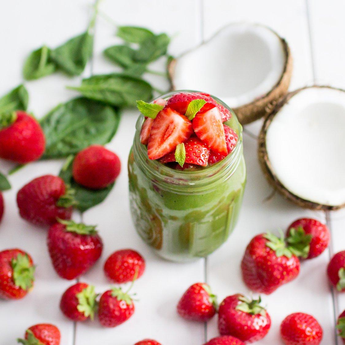 Erdbeer Kokos Smoothie
