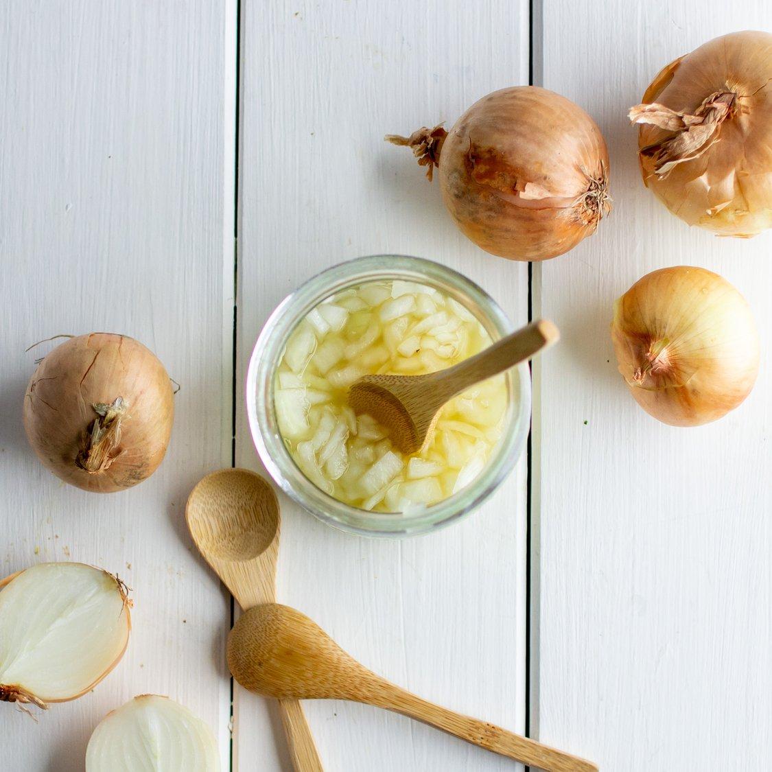 Zwiebel mit Honig