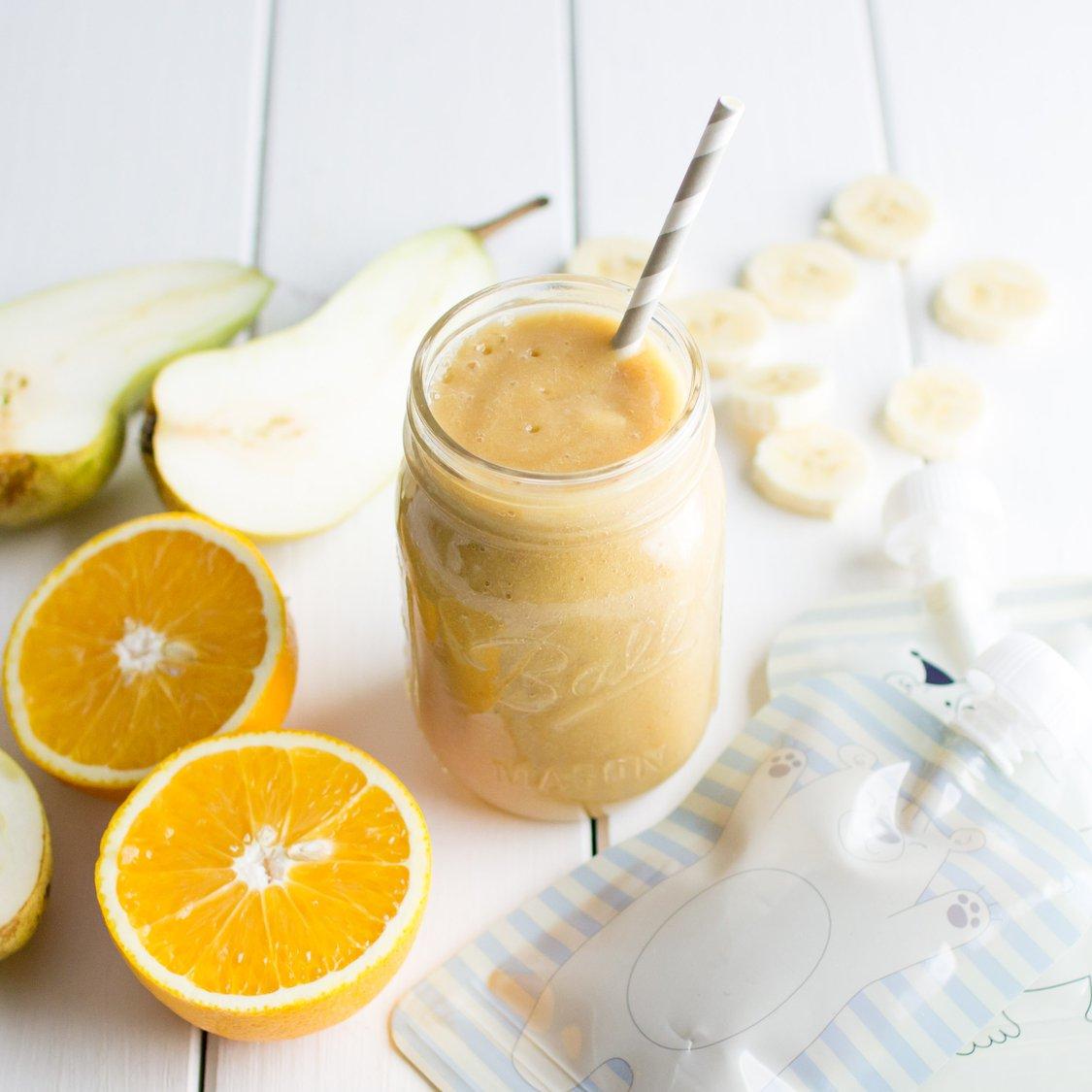 Orangen Birnen Bananen Smoothie