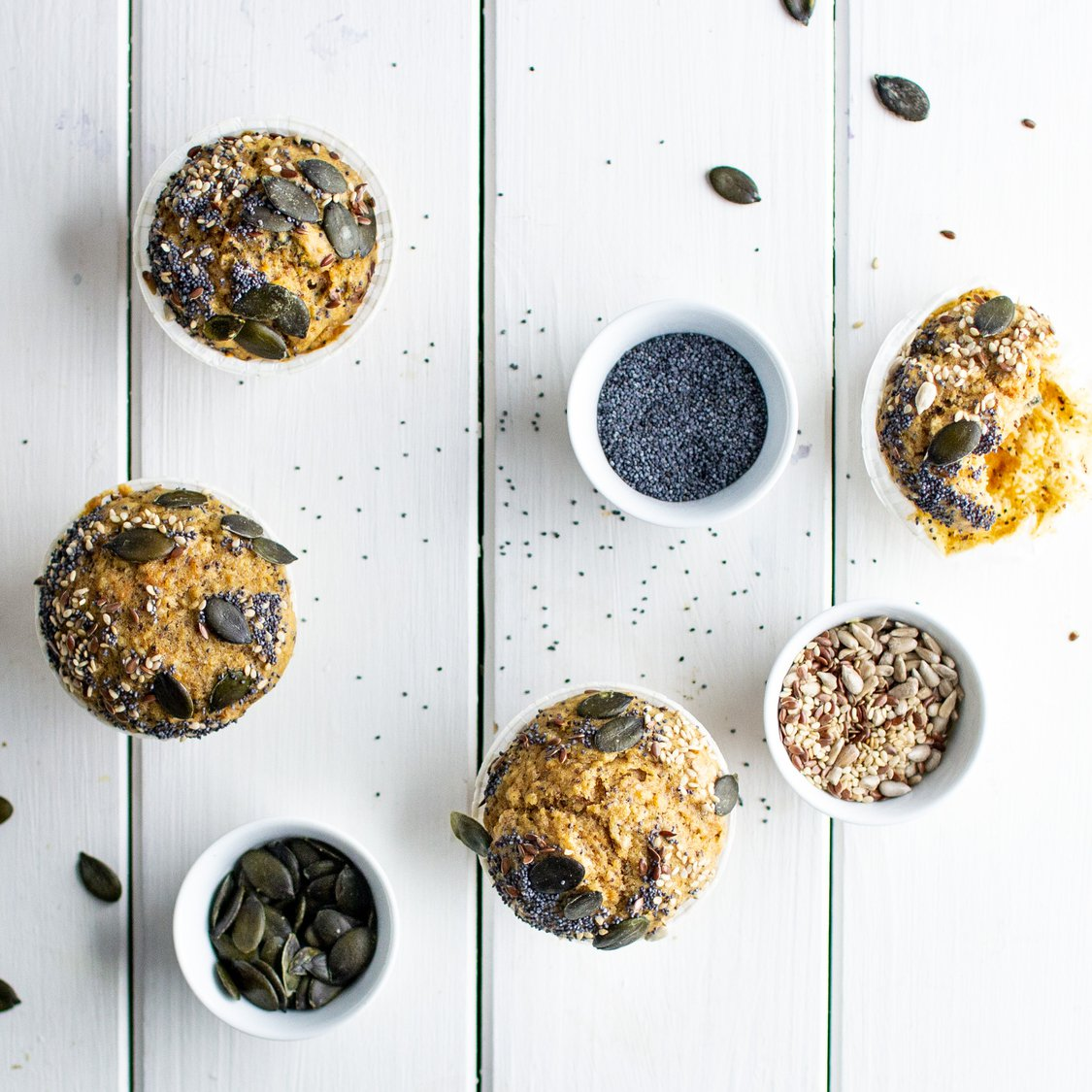 Süßkartoffel-Körner-Muffins